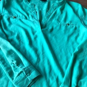 Turquoise green blouse